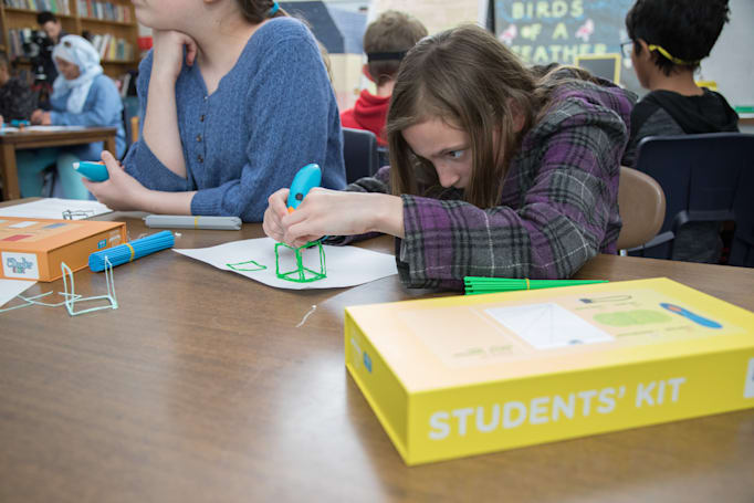 3Doodler's latest kits help kids draw 3D shapes in the classroom