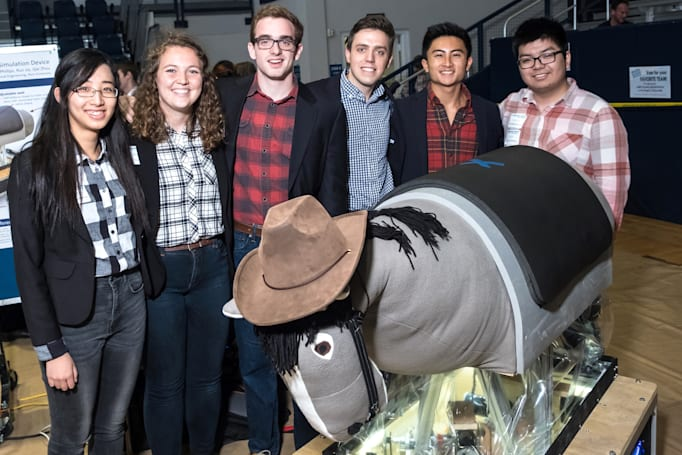 Students make hippotherapy more accessible with robotic horse