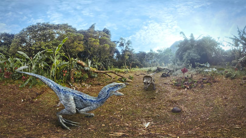 'Jurassic World: Blue' tells a dinosaur's story on Oculus VR headsets