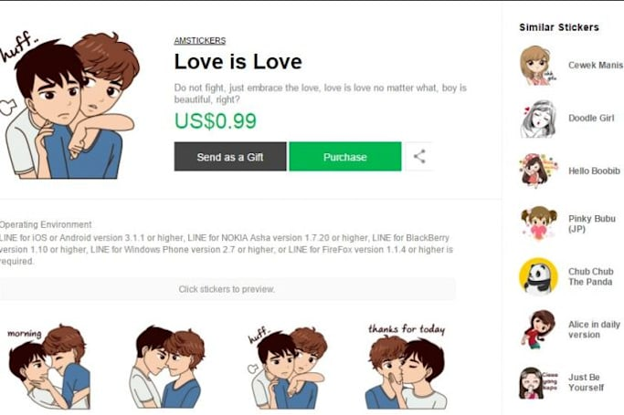 Indonesia demands Line remove LGBT stickers from its app