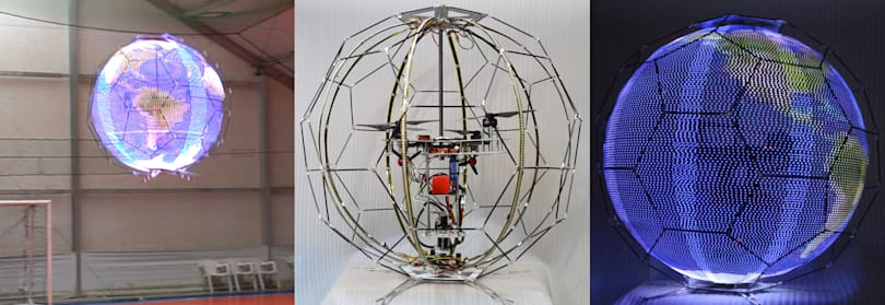 Flying, spherical displays are coming to a halftime show near you