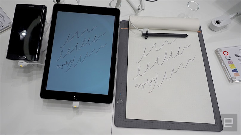Wacom's latest smartpads marry pen and paper with digital notes