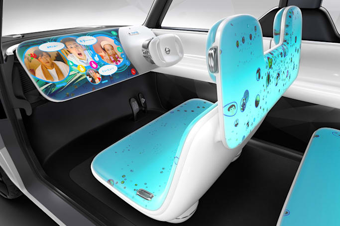 Nissan's concept car is covered in displays for the selfie generation