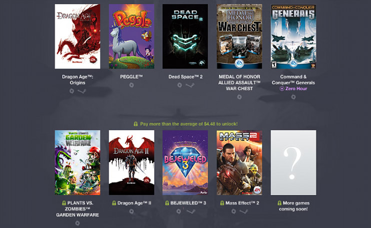 EA won't make money in the new Humble Origin Bundle