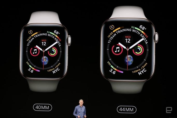 Apple Watch Series 4 率先登場,全新尺寸、更大螢幕