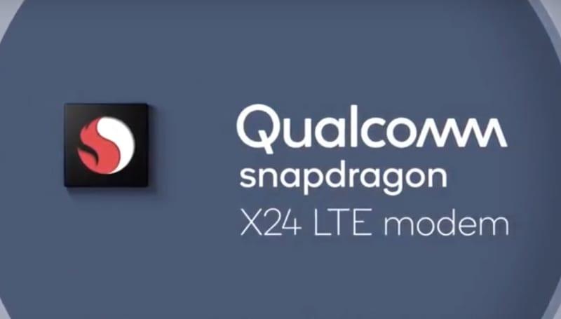 高通的 Snapdragon X24 modem 可以达到 2 Gbps 传输速度