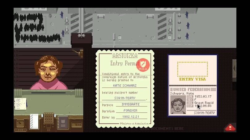 Here's the first look at the 'Papers, Please' short film