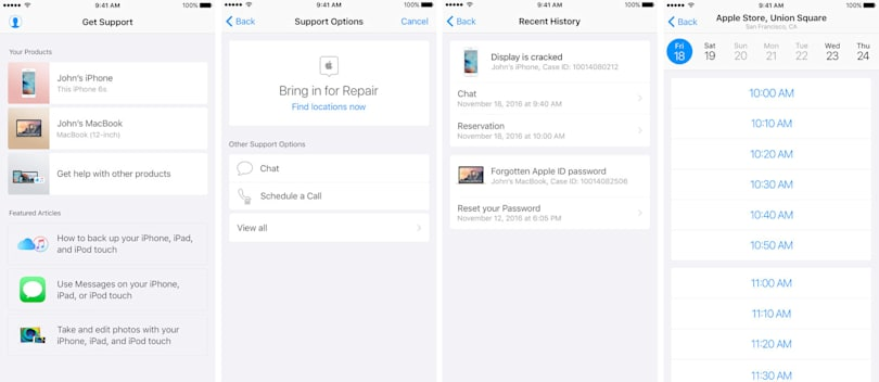 Apple's iOS support app surfaces in the Netherlands