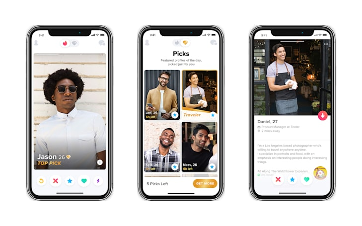 Tinder's curated 'Top Picks' list is available worldwide
