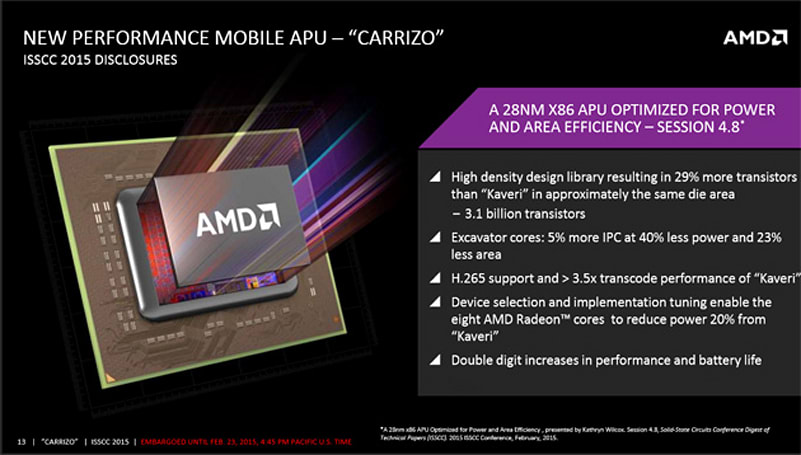 AMD's next laptop processor is mostly about battery life