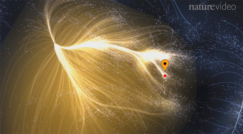 Our entire Milky Way galaxy is just a dot in this supercluster
