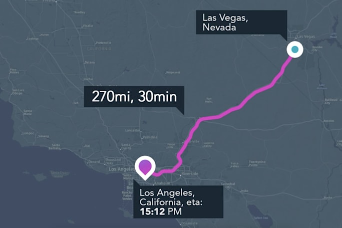 Hyperloop One and Here made an app for imaginary Hyperloops