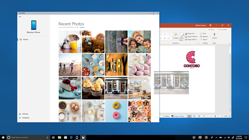 Windows 'Your Phone' app gives you access to Android files on a PC