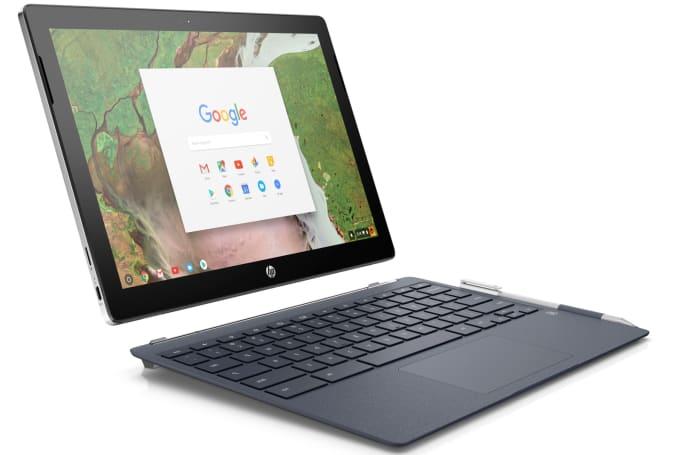 惠普 Chromebook x2 的屏幕部分也能拆下当平板使用