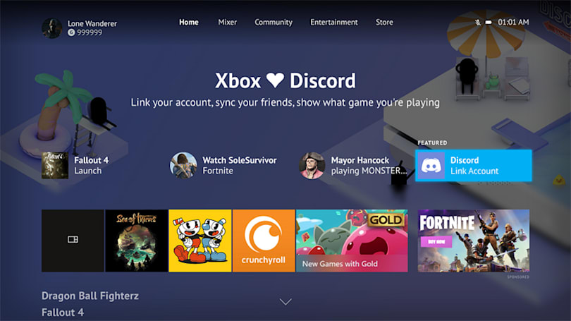 Xbox One update lets you link your Discord account