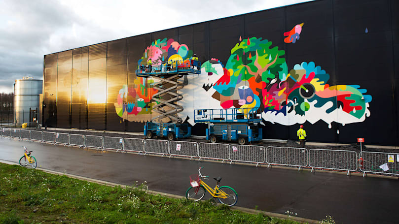 Google dolls up its data centers with a mural project