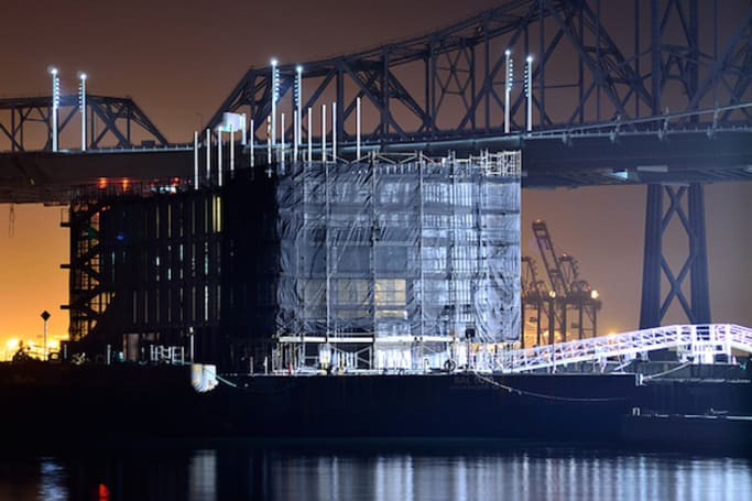 Google's peculiar floating barge meets its maker