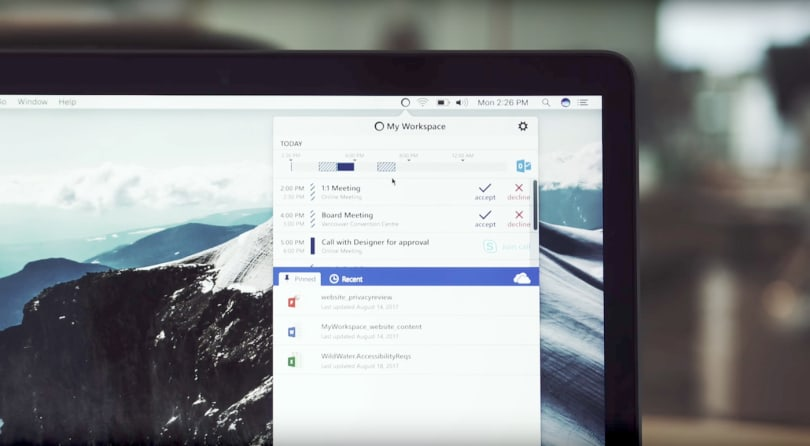 Microsoft's latest Mac app is a toolbar for Office 365