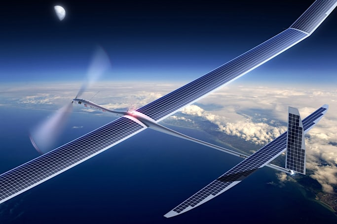 Google plans to beam 5G internet from solar drones