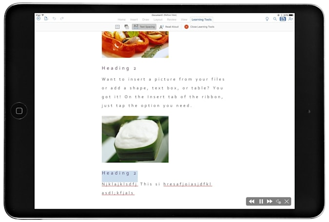 Microsoft's Learning Tools for students heads to Word on iPad