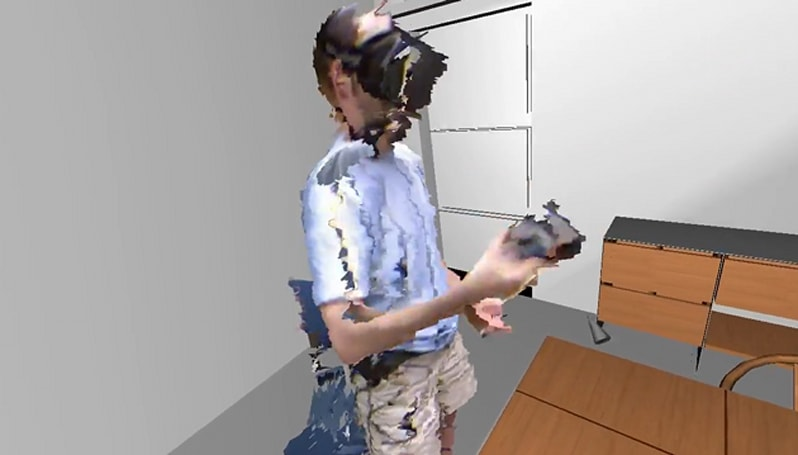 Oculus Rift user transplants his whole body into VR using three Kinects