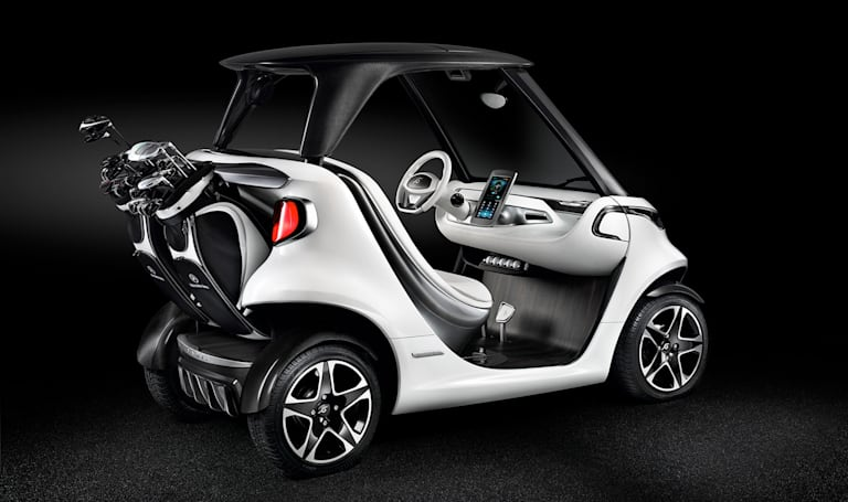 Mercedes-Benz made a high-tech golf cart inspired by sports cars