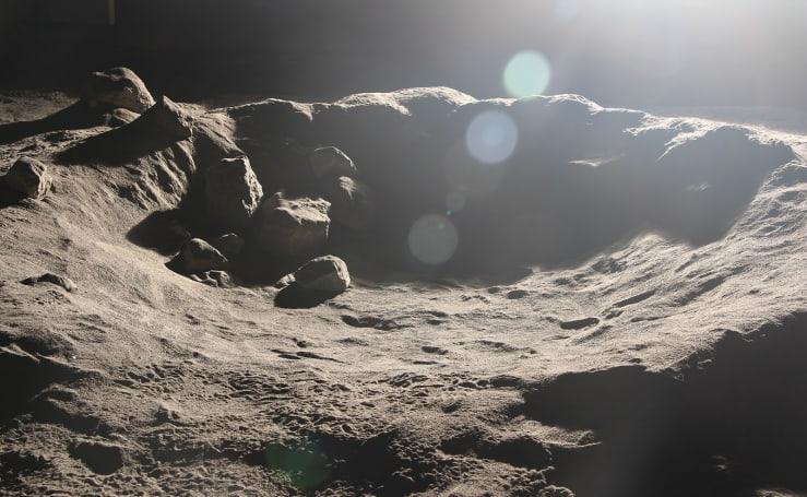 Lunar 'sandbox' helps robots see in harsh moon lighting