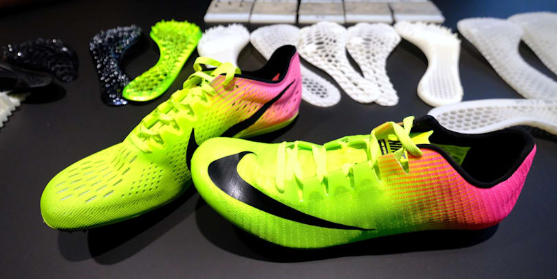 Nike used 3D printing and Olympic sprinters to design its new track shoe