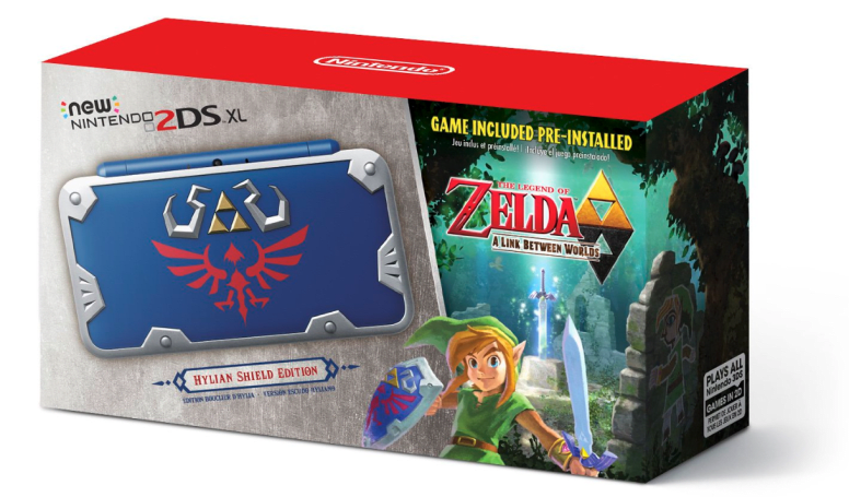 Nintendo's latest 2DS XL is a tribute to Link's Shield