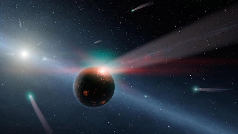 A star will graze our solar system in a million years