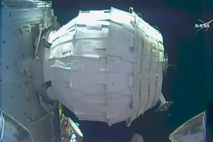 NASA successfully puffs up its inflatable space habitat
