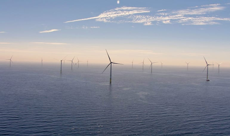 Largest offshore wind farm opens off England's coast