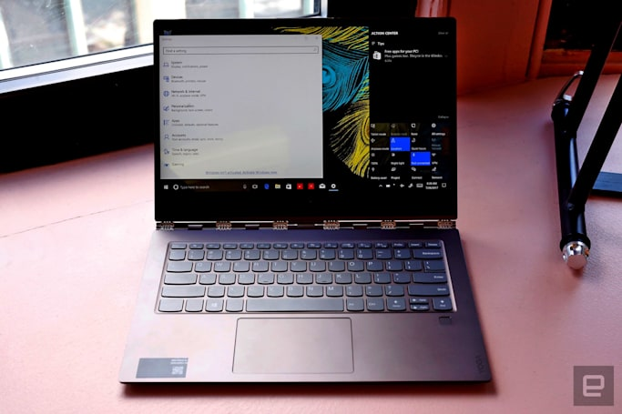 Lenovo's Yoga 920 touts a quad-core chip and long-range voice control