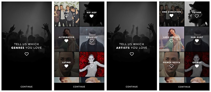 Vevo's app can use your Spotify account to give better recommendations