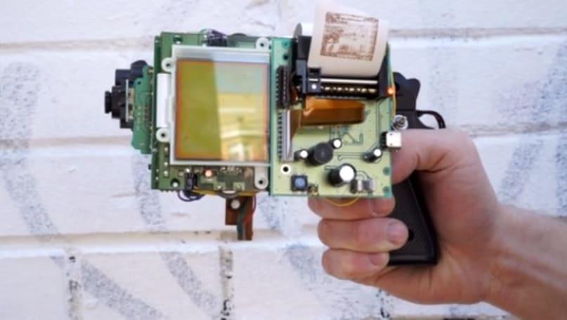 Game Boy camera gun prints when you shoot