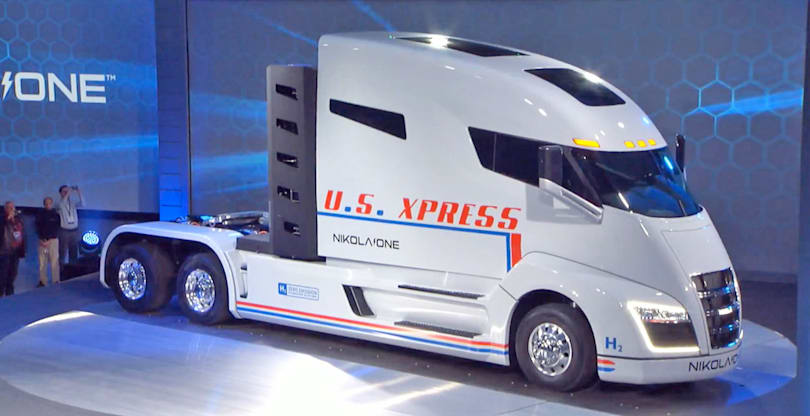 Nikola unveils its hydrogen-powered semi-truck