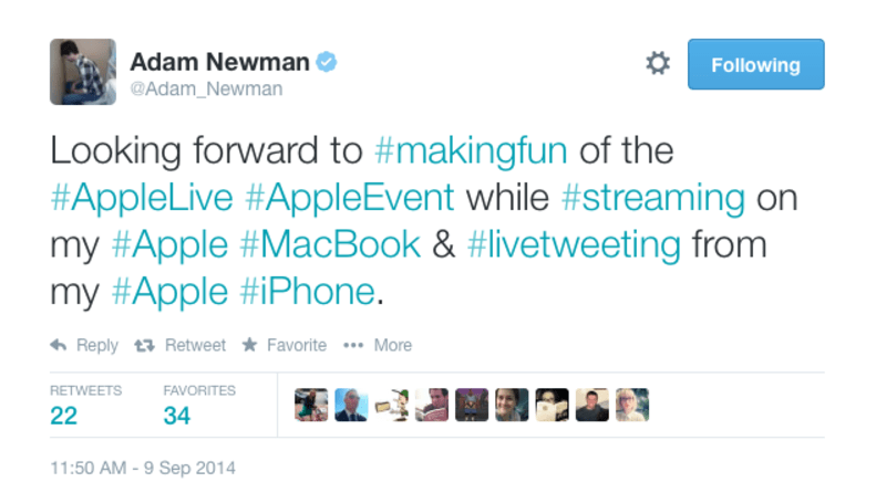 Here are the funniest Tweets from the iPhone 6 event