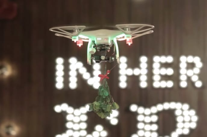 This is what happens when a drone interrupts your Christmas date
