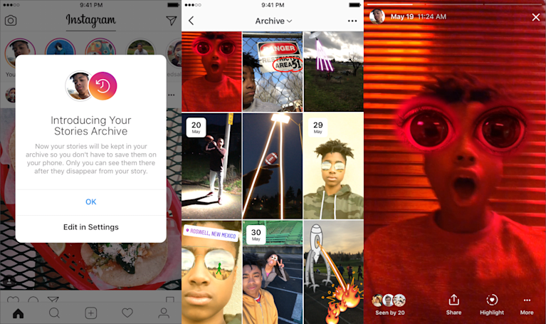 Instagram can now automatically archive your Stories