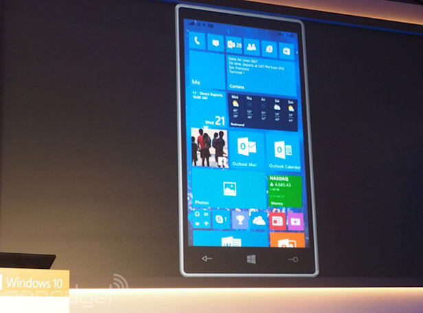 Windows 10 Technical Preview arrives on phones