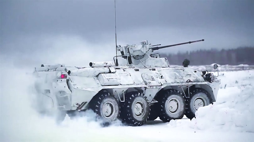 A Russian military contractor is building huge drone tanks