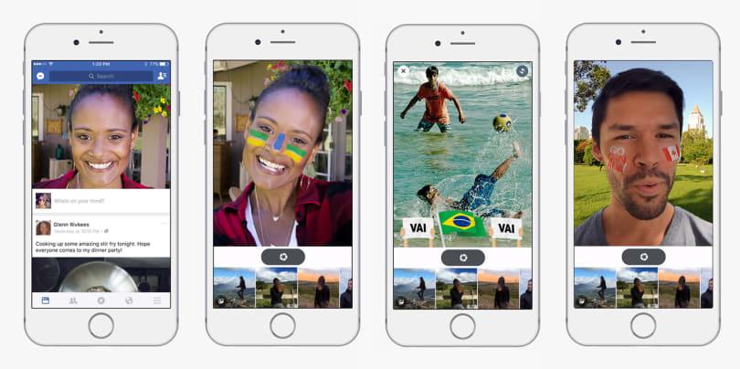 Facebook 移动应用现已支持照片、视频即时滤镜