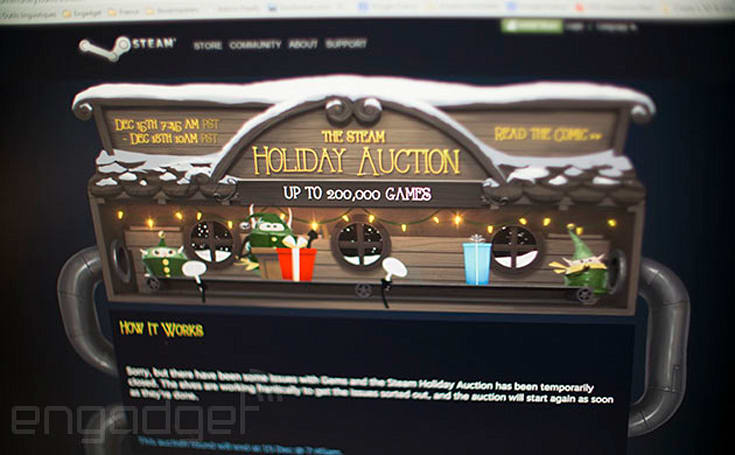 Steam auction on hold after users find exploit, pilfer online currency (updated)