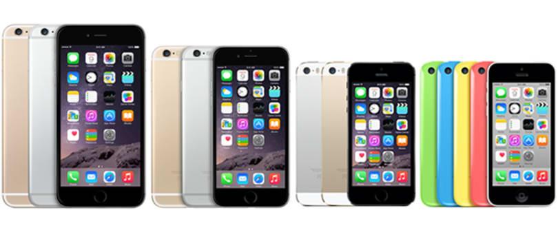 iPhone 6、6 Plus、5s、5c 超級比一比
