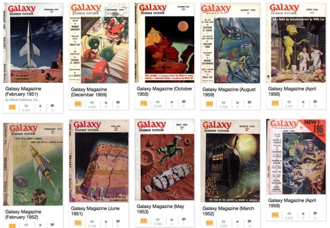 Seminal sci-fi magazine 'Galaxy' is now free online