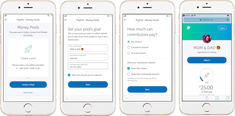 PayPal makes it easy to pool money for gifts