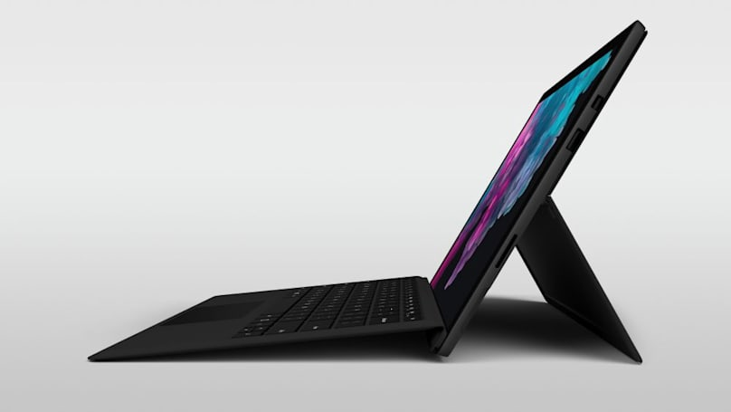 Microsoft's Surface Pro 6 puts quad-core CPU power in a thin tablet