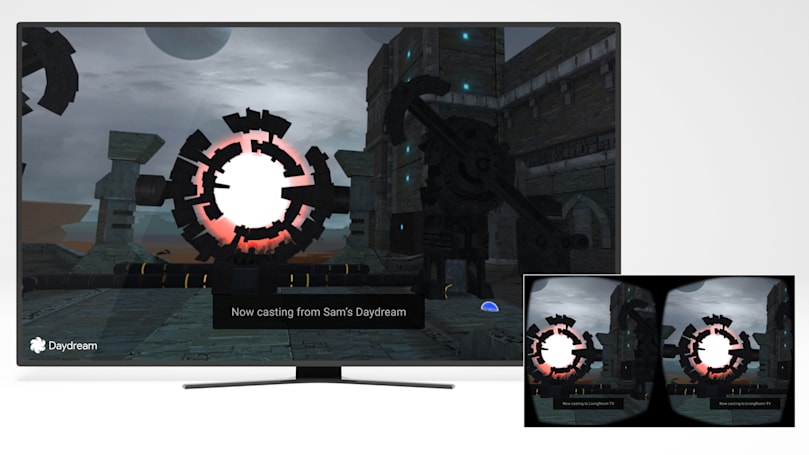 Google Cast beams Daydream VR to your TV