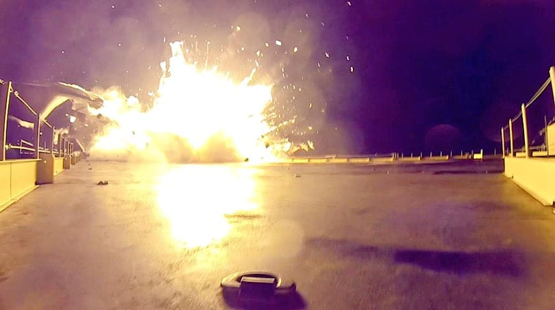 SpaceX's rocket landing test was a big success, despite the fiery explosion (update: video)