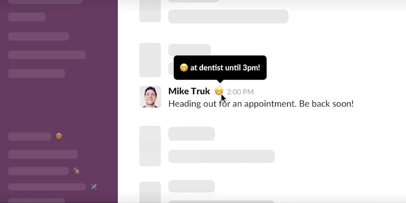 Slack adds status messages, a feature it should have had on day one